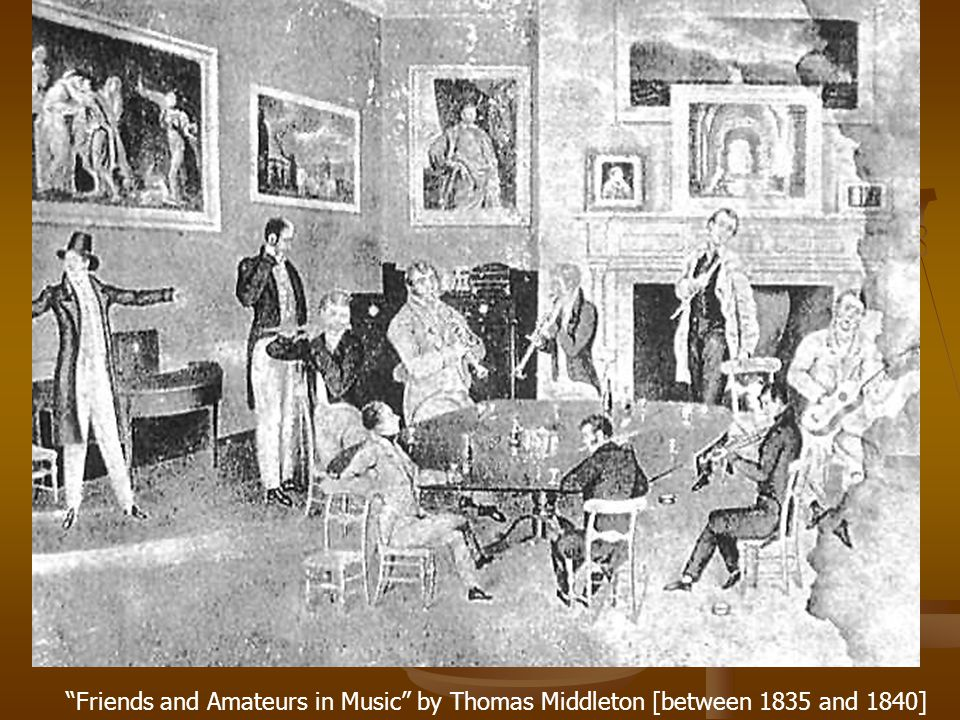 Friends and Amateurs in Music by Thomas Middleton [between 1835 and 1840]